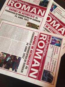 Primăria municipiului Roman îşi informează cetăţenii prin intermediul ziarului propriu
