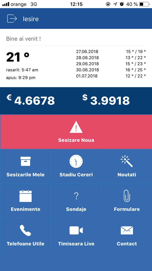 Primăria Timişoara a lansat o aplicaţie pentru smartphone prin intermediul căreia cetăţenii vor putea face sesizări