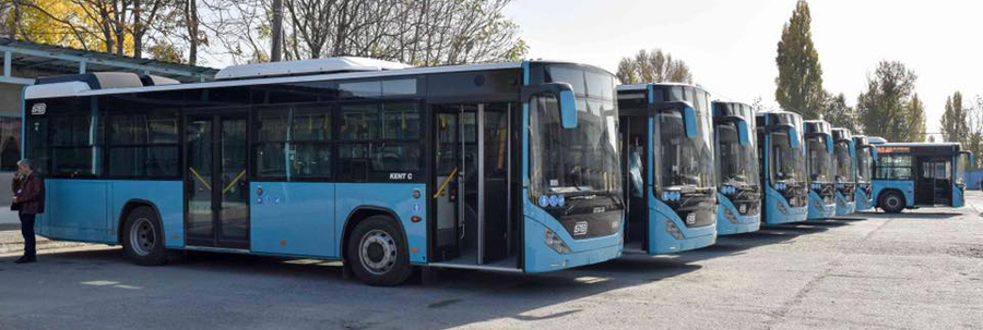 Primele 20 de autobuze noi au ajuns în Capitală