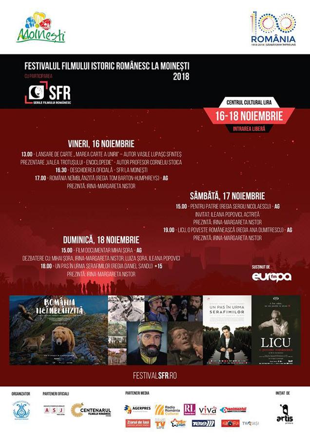 La Moinești are loc Festivalul Filmului Istoric Românesc