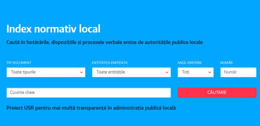Primul index dedicat actelor normative adoptate de administraţia publică locală
