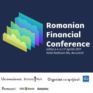 Experții financiari discută la cea de-a VI-a ediție a conferinței Romanian Financial Conference