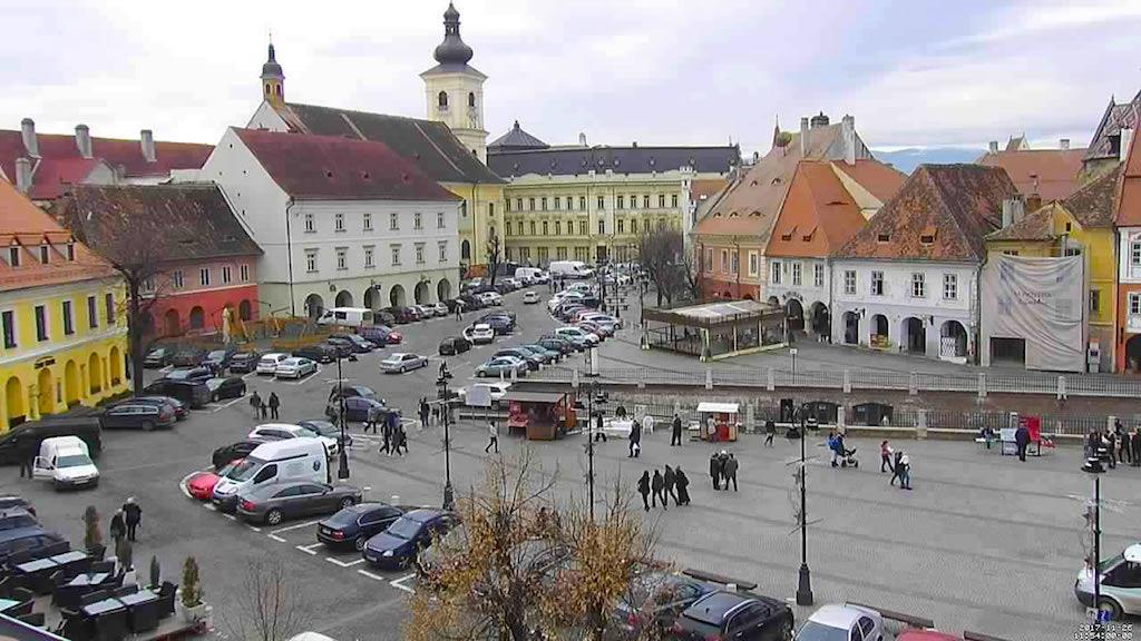 Şoferii pot afla de pe telefon unde şi câte locuri de parcare sunt libere în centrul municipiului Sibiu