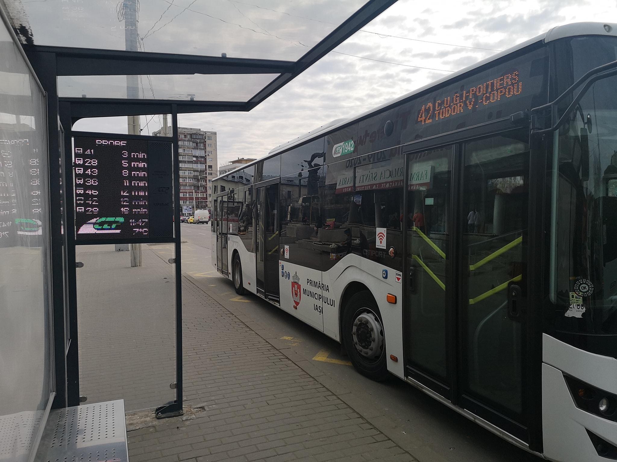 Panouri de informare electronică, în staţiile Companiei de Transport Public Iaşi
