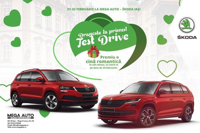 Dragoste la primul test-drive, de Dragobete, cu noile modele disponibile la Mega Auto – Skoda Iași
