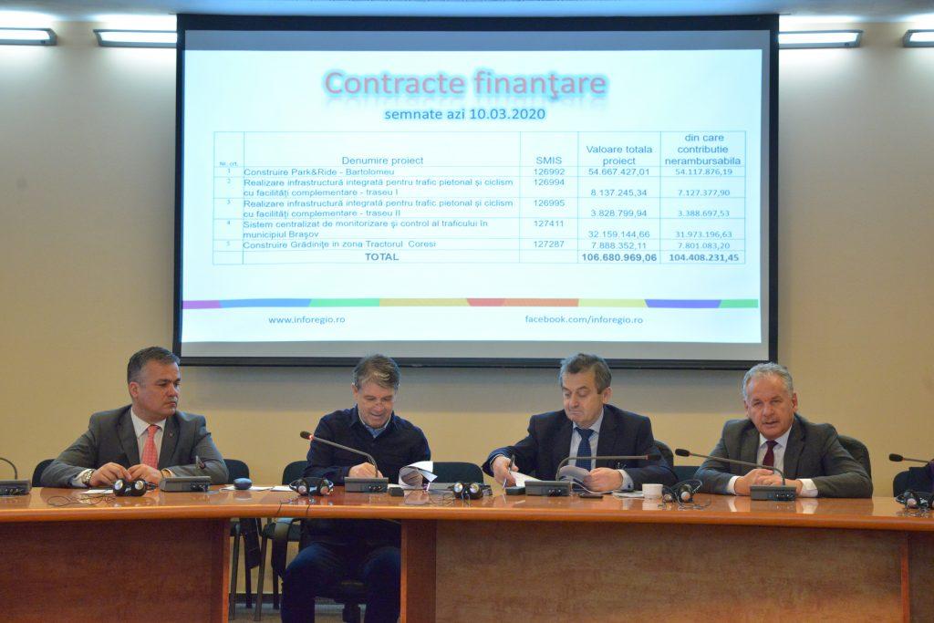 Contracte de finanţare pentru proiecte pe fonduri europene de peste 20 de milioane euro, semnate de primarul municipiului Braşov