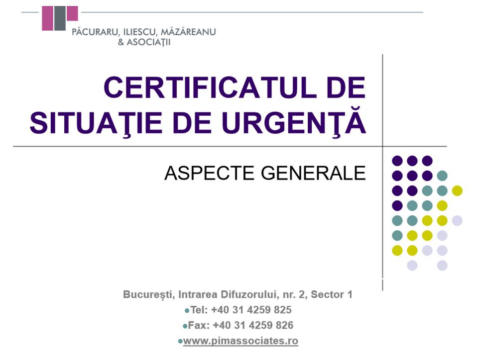 Material informativ de mare utilitate pentru manageri: Ce este Certificatul de Situație de Urgență și cum poate fi folosit