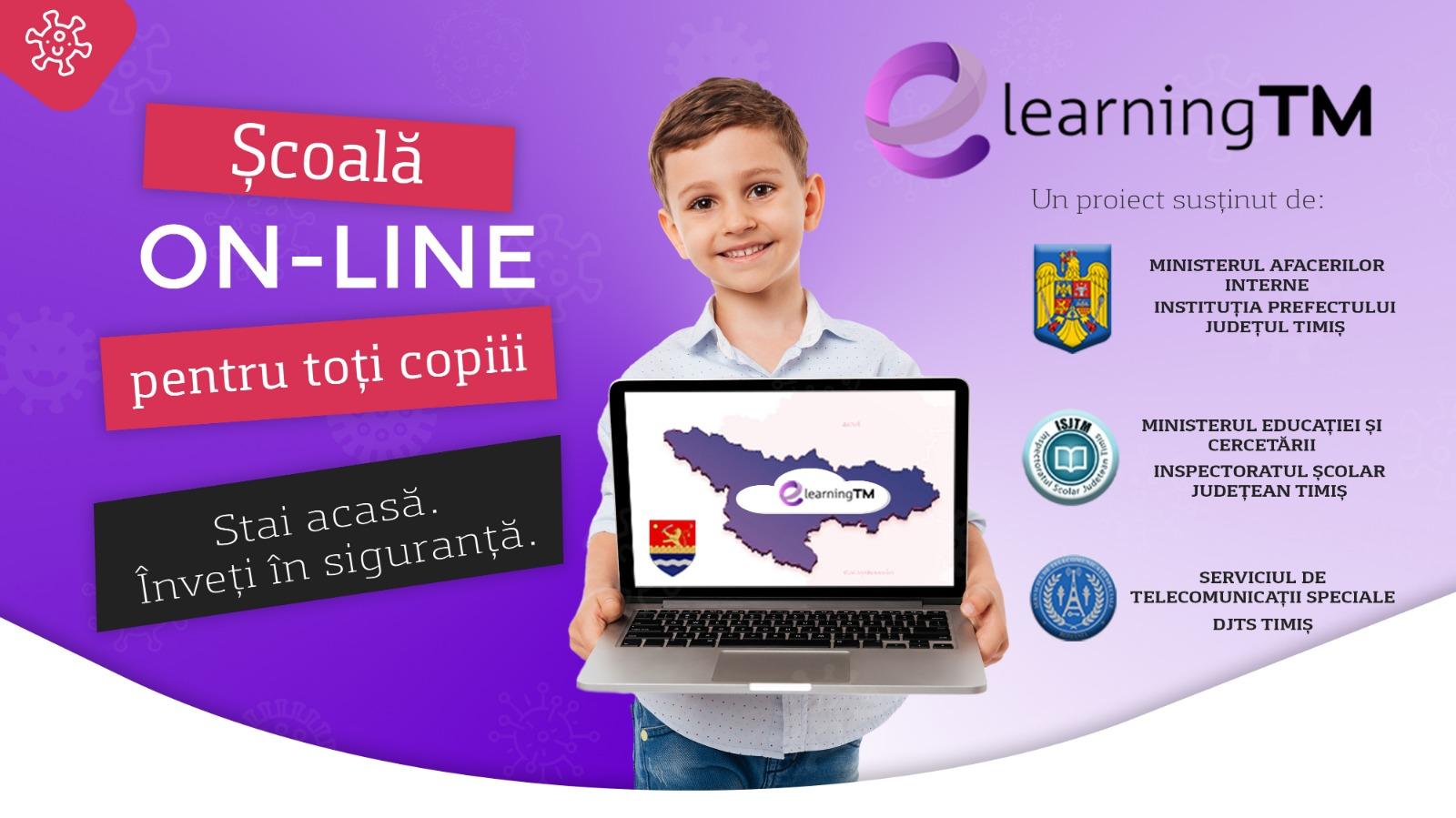 Prefectul de Timiş a lansat campania e-learning TM, pentru dotarea elevilor cu laptopuri
