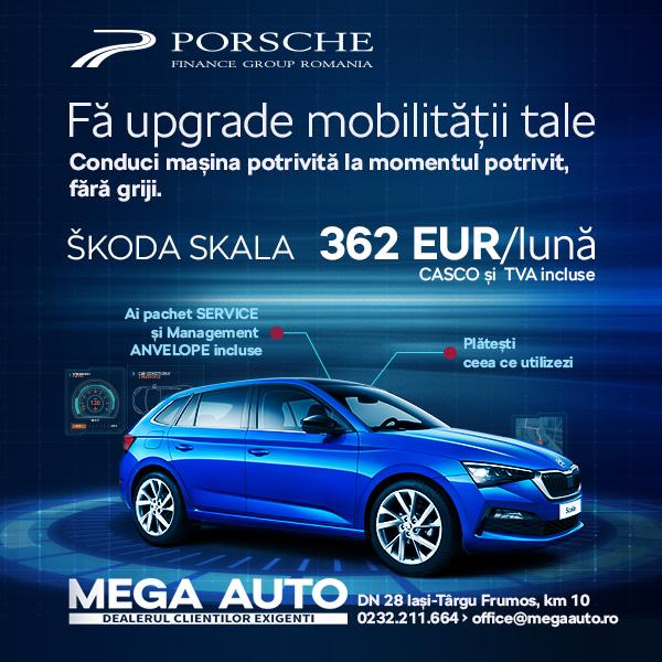 Ofertă de leasing operațional la Mega Auto – ŠKODA Iași: Ai acces la mașina nouă dorită, fără obligația de a o cumpăra