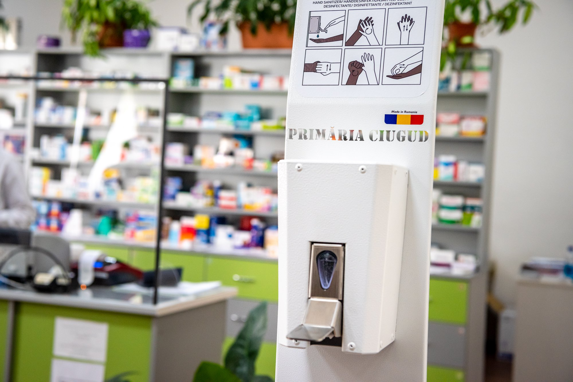 Staţie de dezinfectare realizată în România, testată în premieră de Primăria  Ciugud