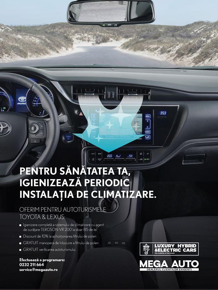 Pregătește-ți Toyota ta sau Lexusul tău pentru concediu cu Mega Auto Iași