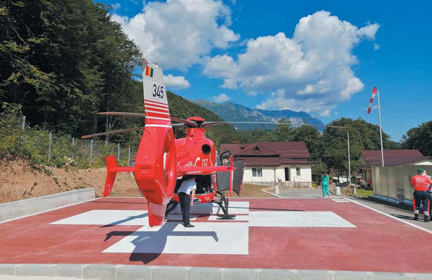 Heliport amenajat la Blaj printr-un parteneriat cu Consiliul Judeţean Alba