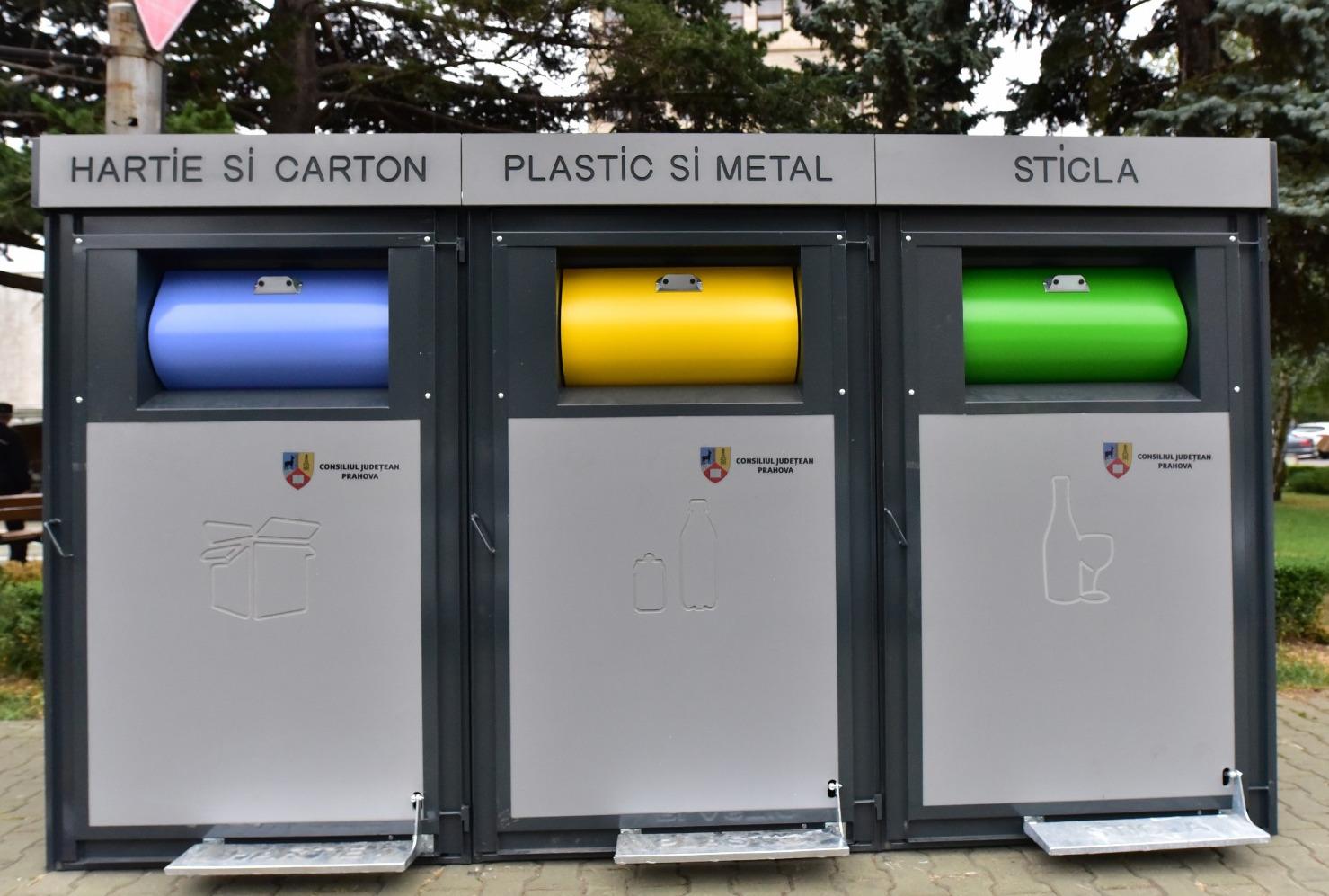 CJ Prahova a achiziţionat 100 de ansambluri modulare pentru colectarea selectivă a deşeurilor în Ploieşti