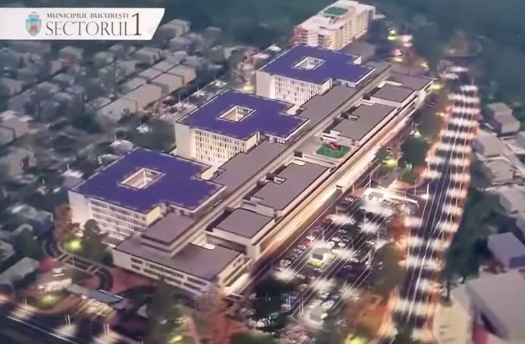 """Spitalul """"construit"""" pe hârtie de Daniel Tudorache are panou publicitar de 100.000 de euro și machetă 3D de 30.000 de euro"""