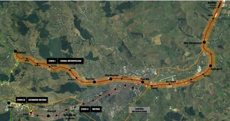 Primăria Cluj-Napoca începe lucrările de foraje geotehnice pentru tren metropolitan şi metrou