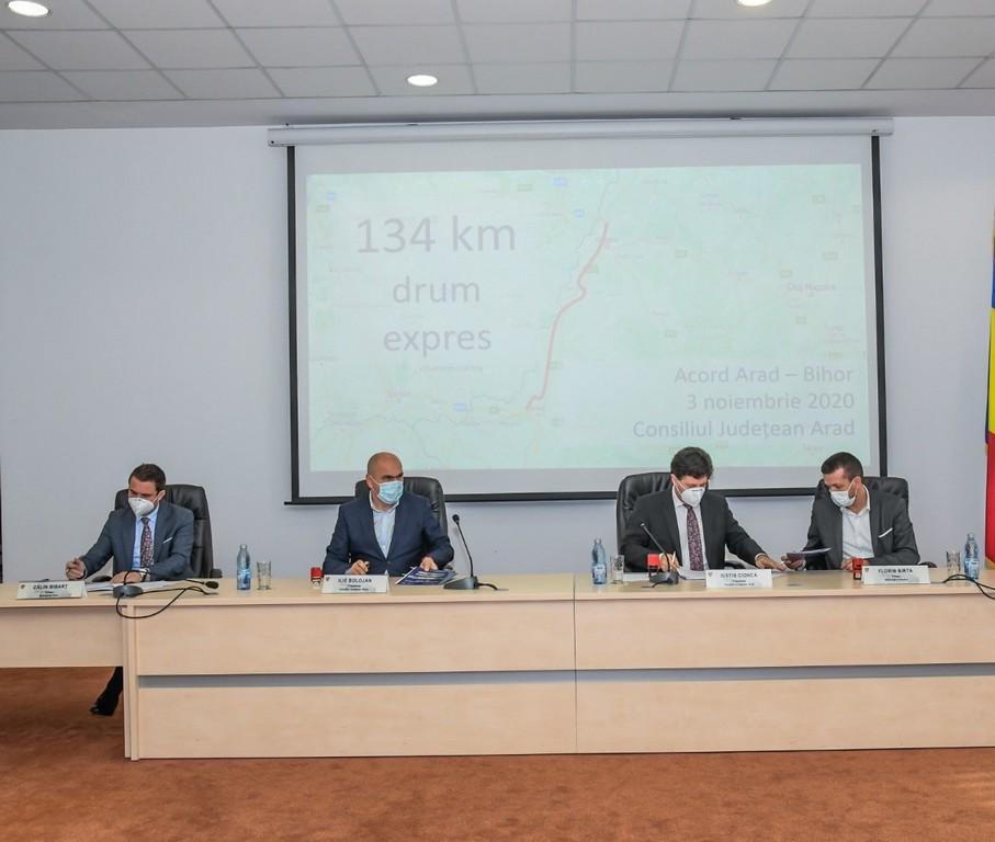 Parteneriat pentru actualizarea studiului de fezabilitate al drumului expres Oradea-Arad