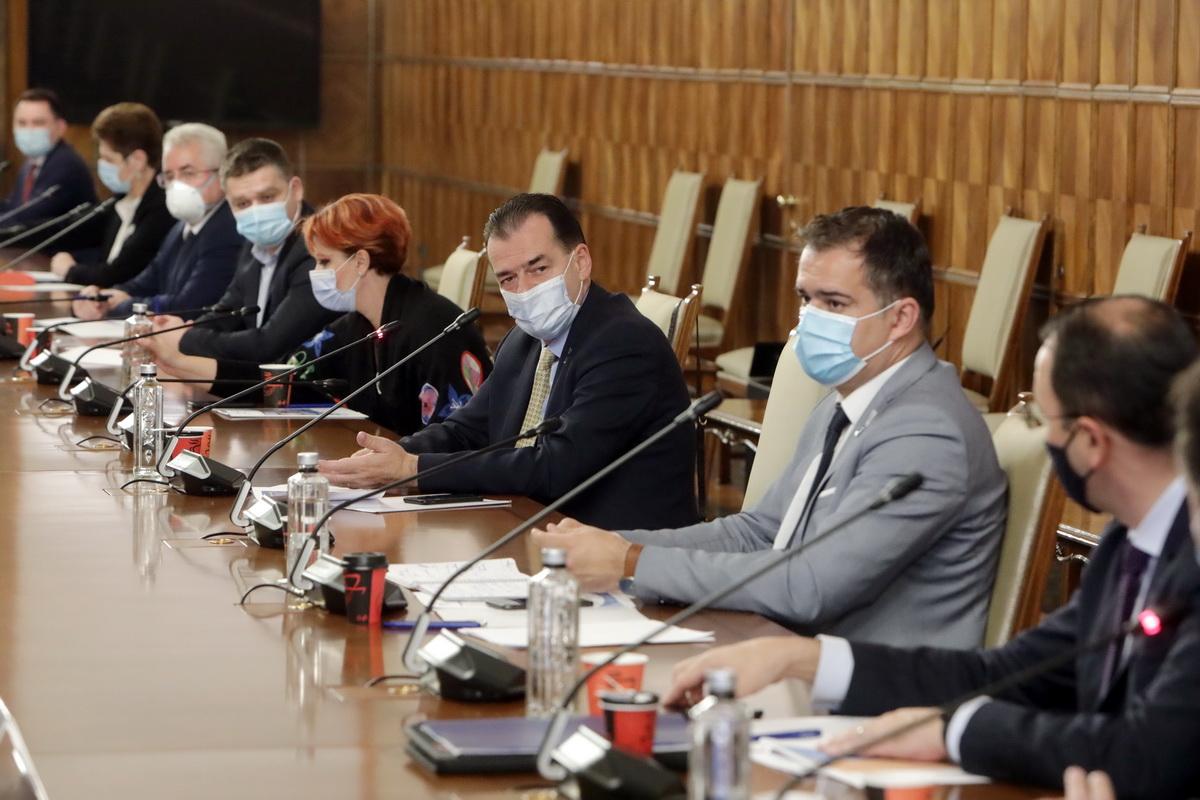 Premierul a discutat cu reprezentanţii Asociaţiei Municipiilor în perspectiva adoptării de către Guvern a rectificării bugetului