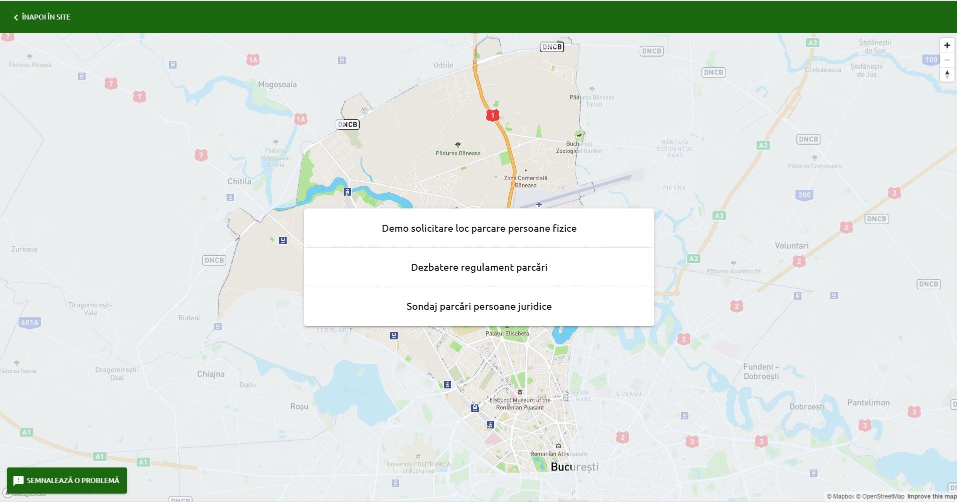 Aplicaţie online pentru închirierea locurilor de parcare de reşedinţă din Sectorul 1