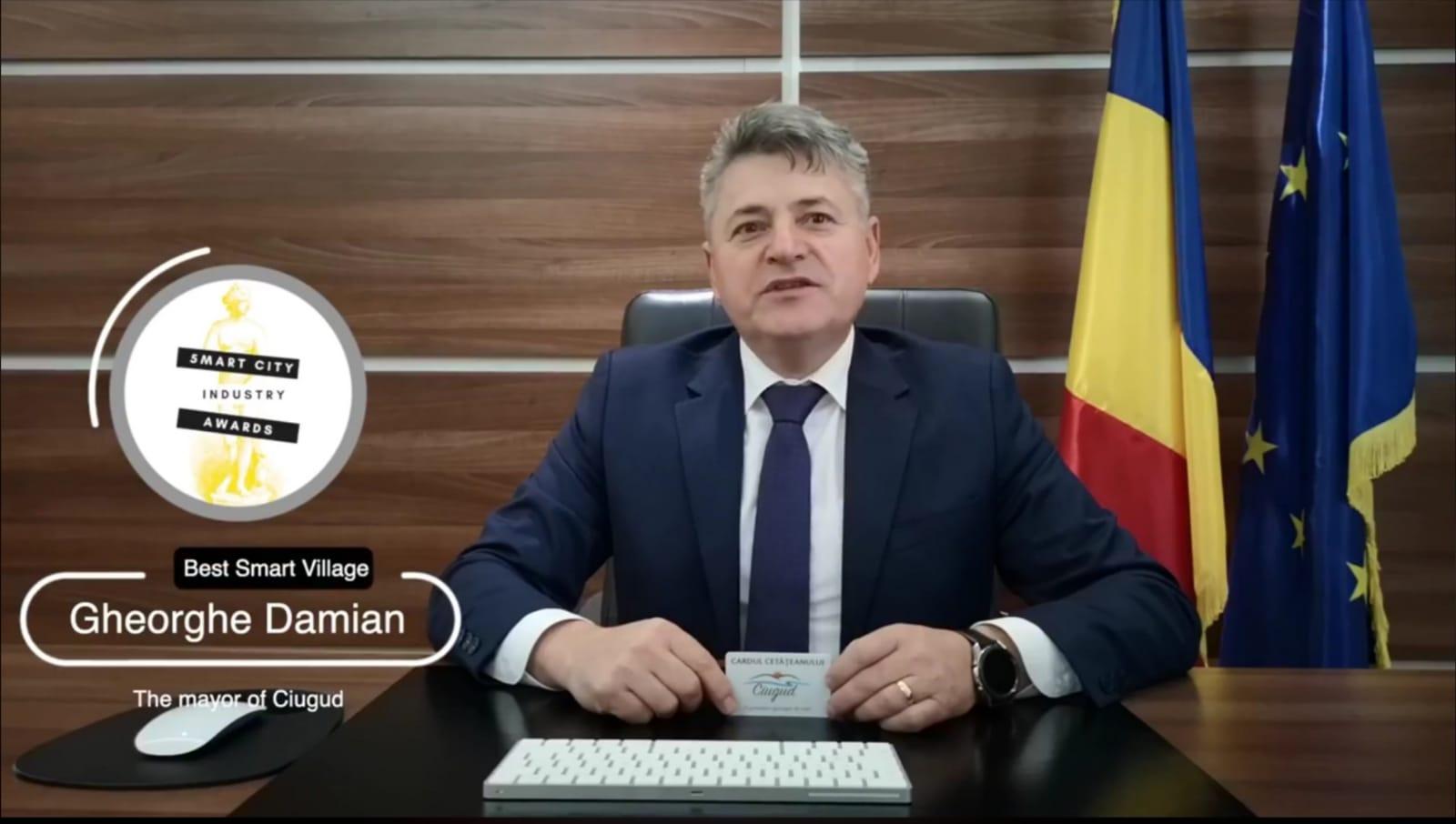 Ciugud – singura comună din România premiată la Gala Smart City Industry Awards