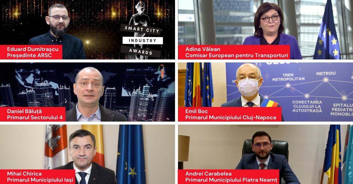 Emil Boc, Primăria oraşului Ciugud, UiPath, Dell Technologies, UP România – printre premianții Galei Smart City Industry Awards 2020