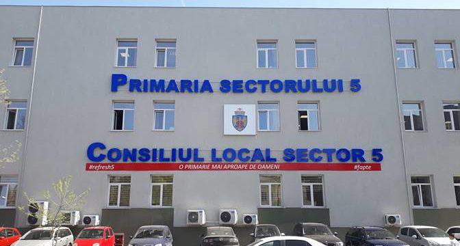Consiliul Local Sector 5 a aprobat contractarea unei finanţări de până la 200 de  milioane de lei