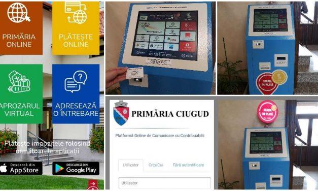 Patru soluţii smart pentru plata taxelor şi impozitelor în comuna Ciugud