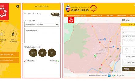 Aplicaţie de mobil, dezvoltată de Primăria Alba Iulia pentru semnalarea incidentelor de către cetăţeni