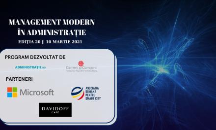 Comunitatea Administratie.ro/ITC: Webinarul Management Modern în Administrație a ajuns la ediția cu numărul 20