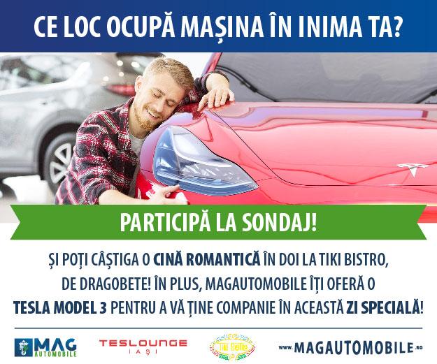 Sondaj MagAutomobile: pentru 46% dintre șoferi, mașina ocupă unul din primele 3 locuri în inima lor