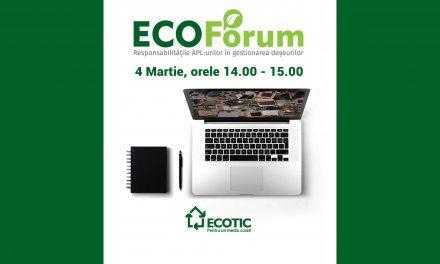 """Comunitatea Administratie.ro: """"Responsabilitățile apl-urilor în gestionarea deșeurilor"""" – tema webinarului EcoForum din 4 martie"""