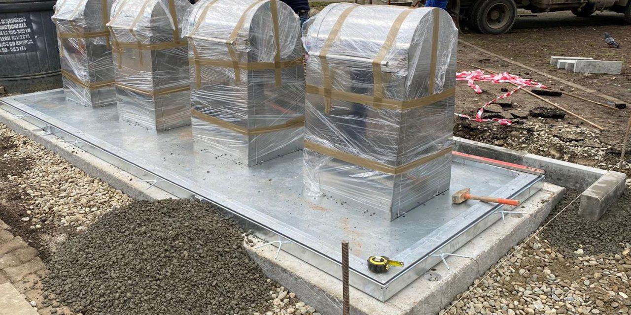 Primăria municipiului Bistriţa testează un sistem de platforme îngropate pentru colectarea deşeurilor menajere