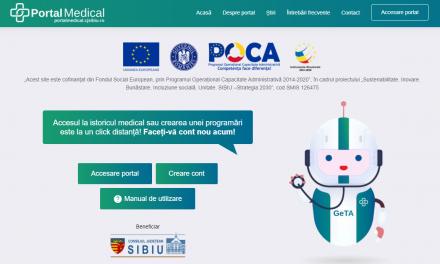 Portal medical unde pacienţii sibieni au acces la datele medicale personale şi se pot programa la doctor