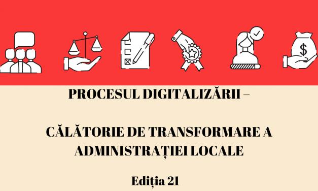 """Comunitatea OSC – Administratie.ro/ITC: """"Procesul digitalizării – Călătorie de transformare a administrației locale"""" – tema webinarului din luna aprilie"""
