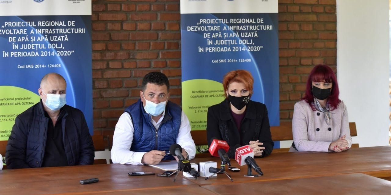 Contract de 82,6 milioane lei pentru reabilitarea reţelelor de apă şi canalizare în estul municipiului Craiova