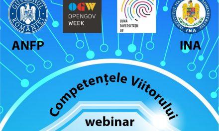 Competențele viitorului – tema webinarului organizat de ANFP și INA