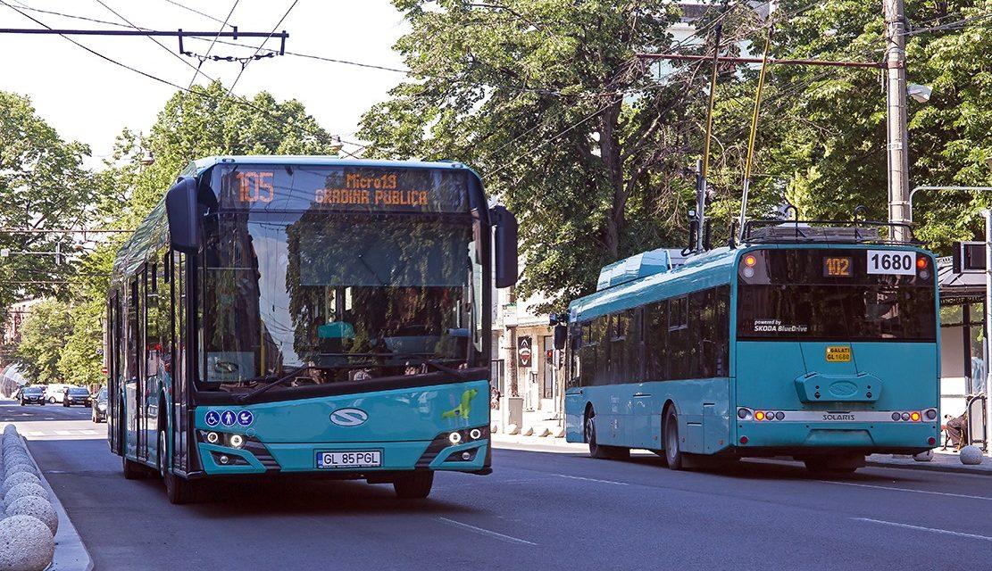 20 de autobuze noi şi nepoluante circulă pe străzile municipiului Galaţi