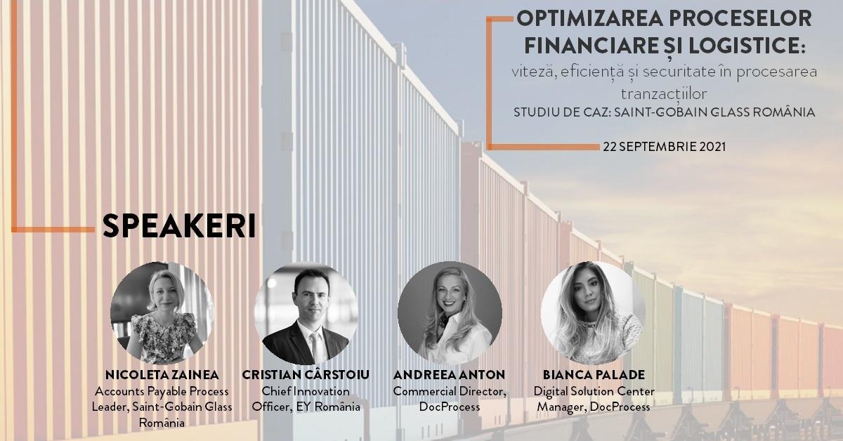 Pe 22 septembrie, BusinessMark și DocProcess vă invită la o discuție online despre optimizarea proceselor financiare și logistice