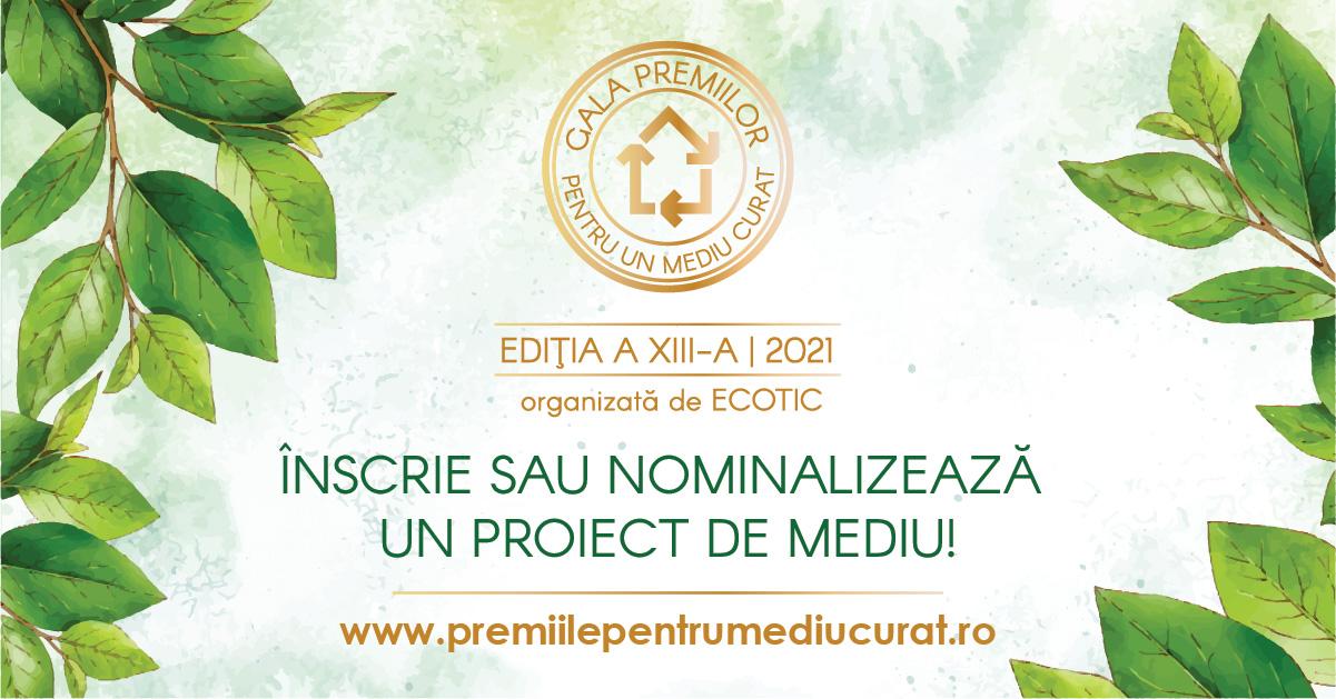 Ai un proiect de mediu? Înscrie-l în Gala Premiilor pentru un Mediu Curat!