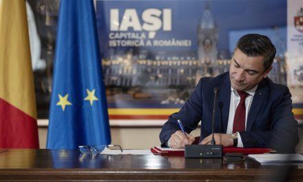 Primarul municipiului Iaşi a semnat cu BERD un contract de împrumut de 100 milioane de lei