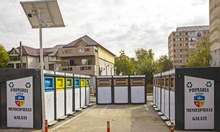 Primăria Galaţi a amenajat primele zece puncte de colectare a deşeurilor cu sisteme de supraveghere video