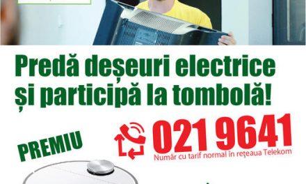Tombolă ECOTIC dedicată persoanelor fizice care doresc să predea deșeurile electrice voluminoase de la domiciliu
